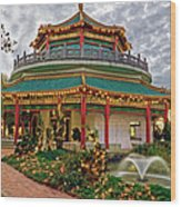 Pagoda In Norfolk Virginia Wood Print