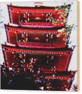 Pagoda Marvel Wood Print