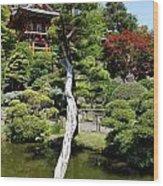 Pagoda On The Lake Wood Print