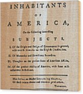 Paine: Common Sense, 1776 Wood Print by Granger