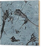 Paint Fossils Wood Print
