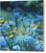 Paint Me Blue Wood Print