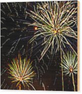 Paint The Sky With Fireworks  Wood Print