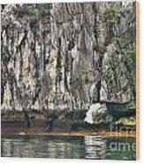 Paint Vietnam Rock Wood Print
