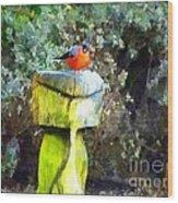 Painted Bullfinch S2 Wood Print