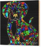 Painted Black Dog Wood Print by Nick Gustafson