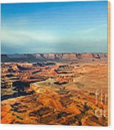 Painted Canyonland Wood Print by Robert Bales