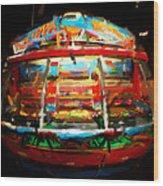 Painted Casino Wood Print