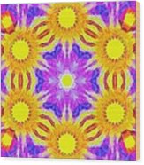 Painted Cymatics 161.66hz Wood Print