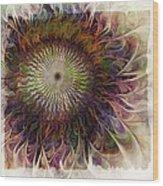Painted Daisy Wood Print