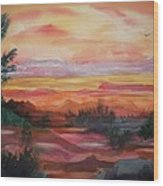 Painted Desert II Wood Print