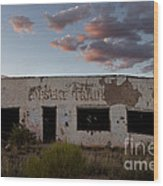 Painted Desert Trading Post At Sunset Wood Print