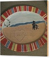 Painted Dish Wood Print