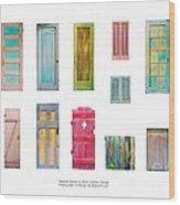Painted Doors And Window Panes Wood Print