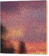 Painted Evening Wood Print
