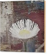 Painted Flower Wood Print