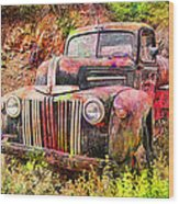 Painted Ford Wood Print