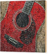 Painted Guitar - Music - Red Wood Print