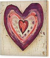 Painted Heart Wood Print