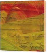 Painted Hills 9 Wood Print