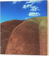 Painted Hills Blue Sky 2 Wood Print