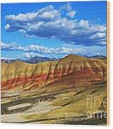 Painted Hills Blue Sky 3 Wood Print