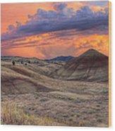 Painted Hills Sunset Wood Print