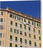 painted homes in Camogli Wood Print