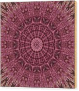 Painted Kaleidoscope 12 Wood Print