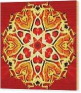 Painted Lotus Xi Wood Print