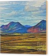 Painted Mountain Wood Print