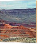 Painted Mountains Wood Print