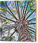Painted Palms Wood Print