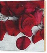 Painted Petals Wood Print