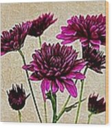 Painted Pink Bouquet Wood Print