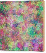 Painted Pixels Wood Print
