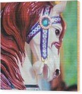 Painted Pony Wood Print