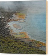 Painted Pool Of Yellowstone Wood Print