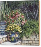 Painted Pots Wood Print