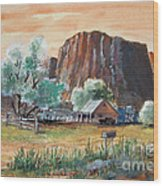 Painted Ranch Wood Print
