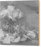 Painted Roses Wood Print