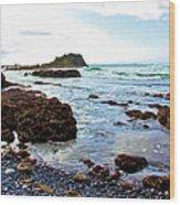 Painted Seascape Wood Print