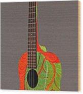 Painted Tenor Uke Wood Print