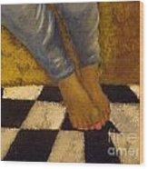 Painted Toe Nails Wood Print
