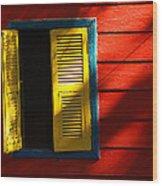 Painted Window - Mike Hope Wood Print