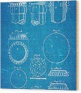Painter Bottle Cap Patent Art 1892 Blueprint Wood Print by Ian Monk