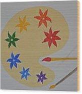 Painter's Bliss Wood Print
