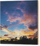 Painter's Sunset Wood Print
