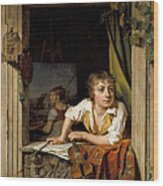 Painting And Music. Portrait Of The Artists Son Wood Print