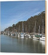 Painting Bay Side Harbor Wood Print